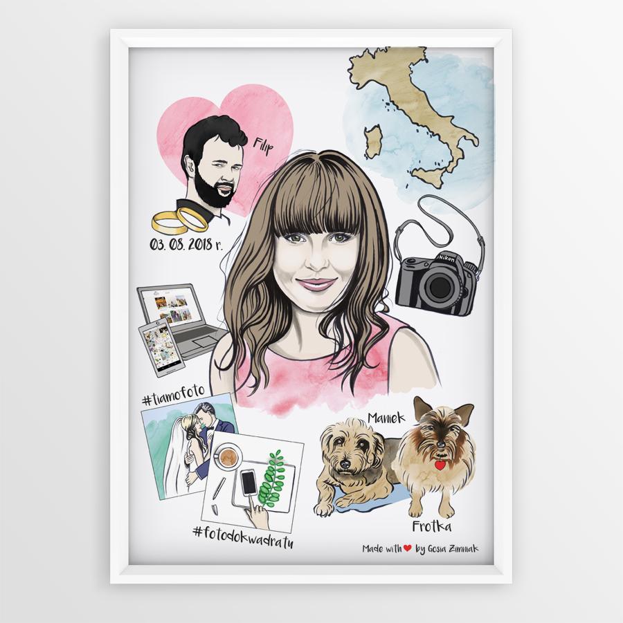 portret ilustrowany