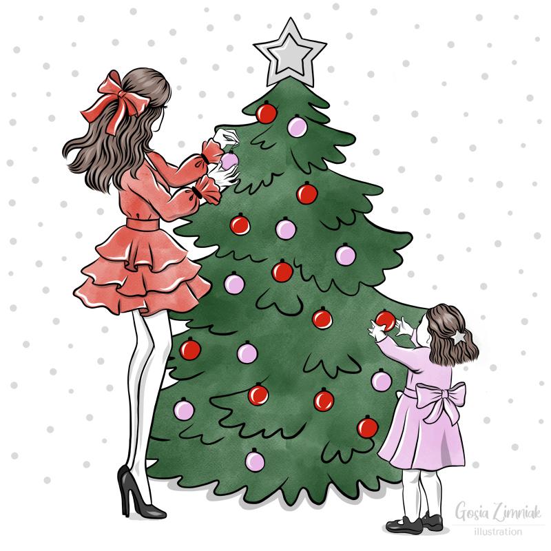 ilustracje świąteczne